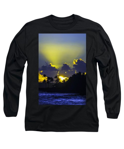 Kauai Sunset Long Sleeve T-Shirt by Debbie Karnes