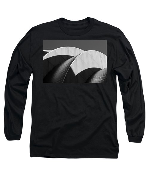 Kauffman Center Curves And Shadows Black And White Long Sleeve T-Shirt