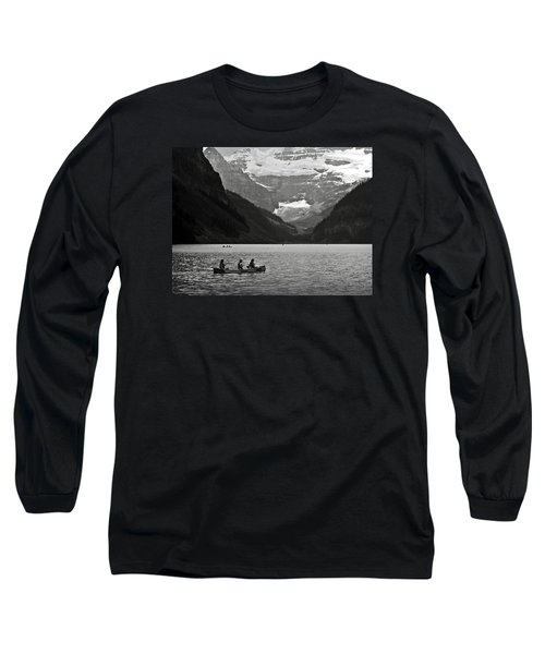 Kayak On Lake Louise Long Sleeve T-Shirt