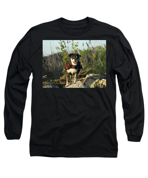 Long Sleeve T-Shirt featuring the photograph Kayaker's Best Friend by James Peterson