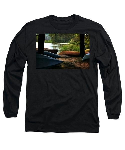 Kayaks On The Shore Long Sleeve T-Shirt