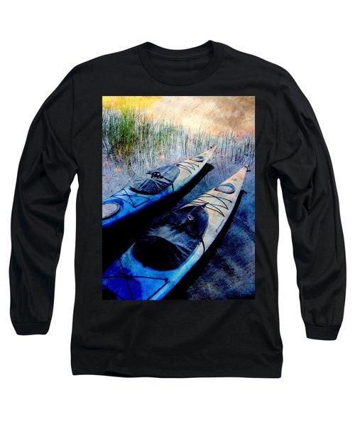 Kayaks Resting W Metal Long Sleeve T-Shirt