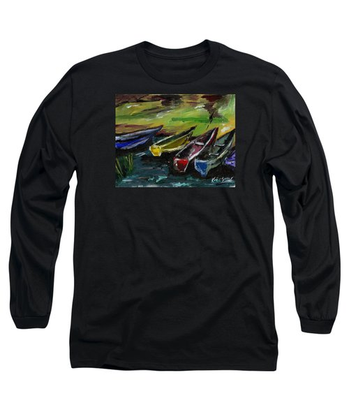 Kazinga Channel Boats Long Sleeve T-Shirt