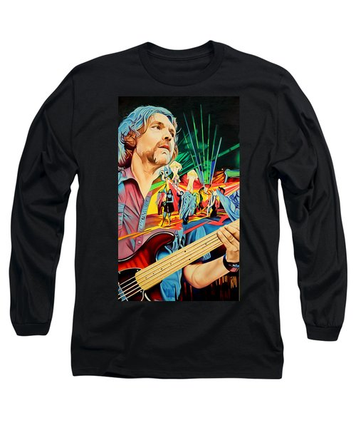Long Sleeve T-Shirt featuring the painting Keith Moseley At Horning's Hideout by Joshua Morton