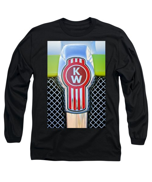 Kenworth Truck Emblem -1196c Long Sleeve T-Shirt by Jill Reger