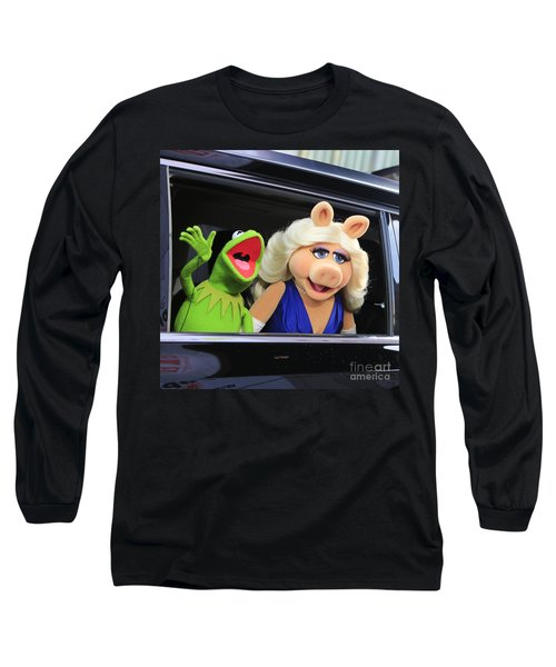 Kermit Takes Miss Piggy To The Movies Long Sleeve T-Shirt by Nina Prommer