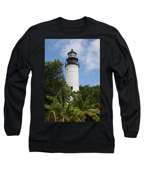 Long Sleeve T-Shirt featuring the photograph Key West Lighthouse  by Christiane Schulze Art And Photography