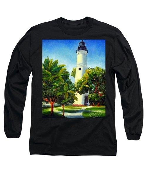Key West Lighthouse Long Sleeve T-Shirt by Shelia Kempf