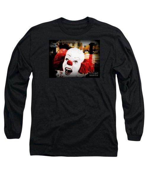 Killer Clowns On The Loose Long Sleeve T-Shirt by Kelly Awad