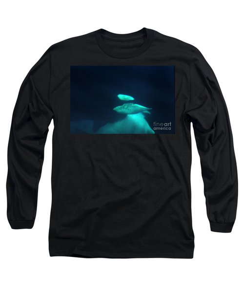 Long Sleeve T-Shirt featuring the photograph Killer Whales Orcas Under Water  Off The San Juan Islands 1986 by California Views Mr Pat Hathaway Archives