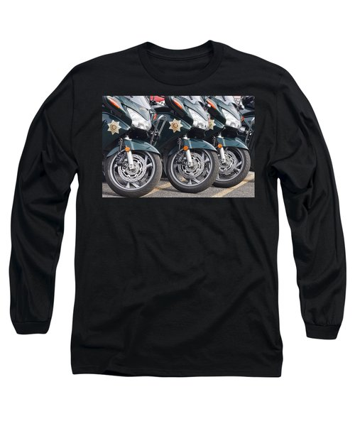 King County Police Motorcycle Long Sleeve T-Shirt