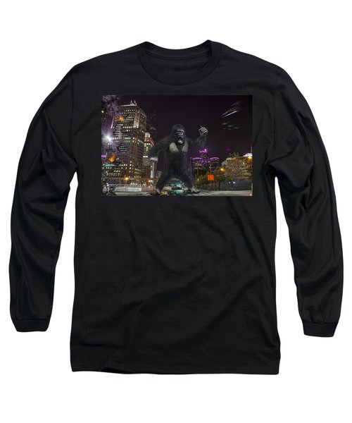 Long Sleeve T-Shirt featuring the photograph King Kong On Jefferson St In Detroit by Nicholas  Grunas