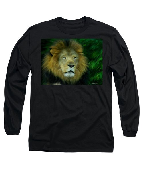 King Long Sleeve T-Shirt by Maria Urso