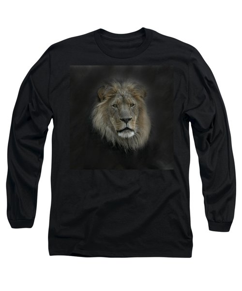 King Of Beasts Portrait Long Sleeve T-Shirt