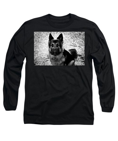 King Shepherd Dog - Monochrome  Long Sleeve T-Shirt