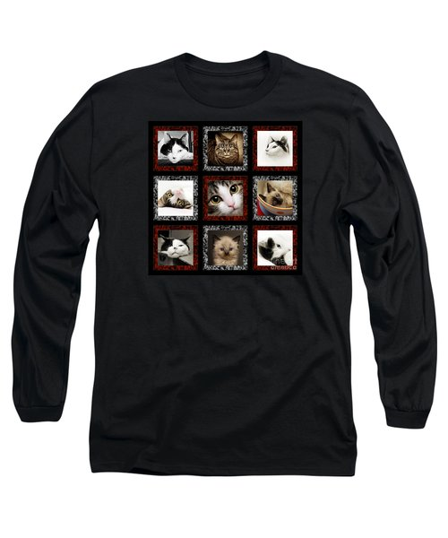 Kitty Cat Tic Tac Toe Long Sleeve T-Shirt