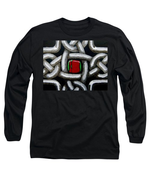 Knotwork With Gem Long Sleeve T-Shirt