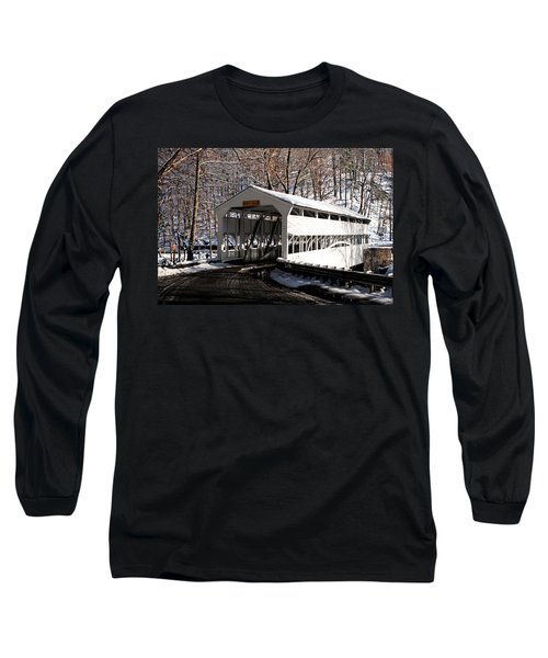 Knox Bridge In The Snow Long Sleeve T-Shirt