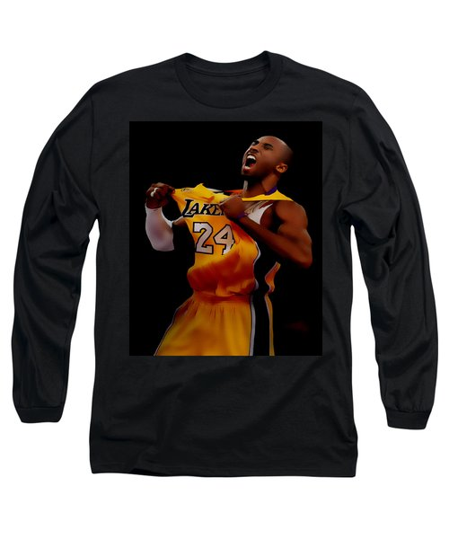 Kobe Bryant Sweet Victory Long Sleeve T-Shirt by Brian Reaves