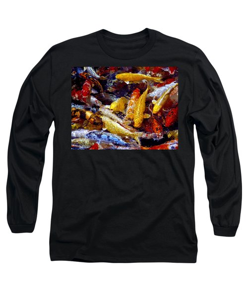 Long Sleeve T-Shirt featuring the photograph Koi Pond by Marie Hicks