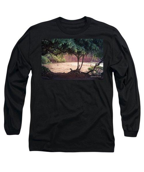 Koki Beach Kaiwiopele Haneo'o Hana Maui Hikina Hawaii Long Sleeve T-Shirt by Sharon Mau