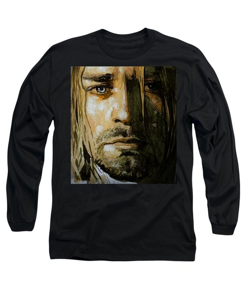 Long Sleeve T-Shirt featuring the painting Kurt Cobain by Laur Iduc