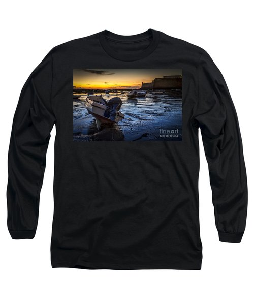 La Caleta Beach Cadiz Spain Long Sleeve T-Shirt by Pablo Avanzini