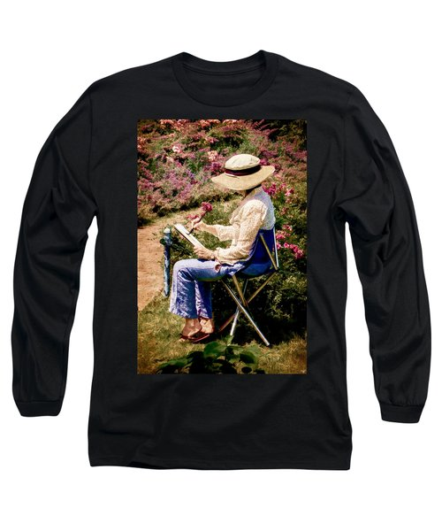 Long Sleeve T-Shirt featuring the photograph La Peintre by Chris Lord