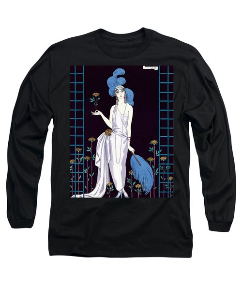 'la Roseraie' Fashion Design For An Evening Dress By The House Of Worth Long Sleeve T-Shirt