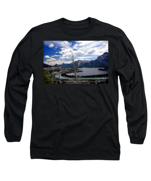 Lac Des Arcs Fractal Long Sleeve T-Shirt