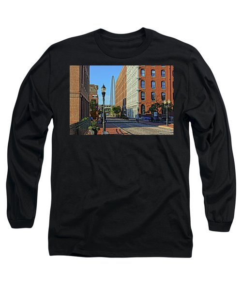 Laclede's Landing Just North Of The Arch Long Sleeve T-Shirt by Greg Kluempers