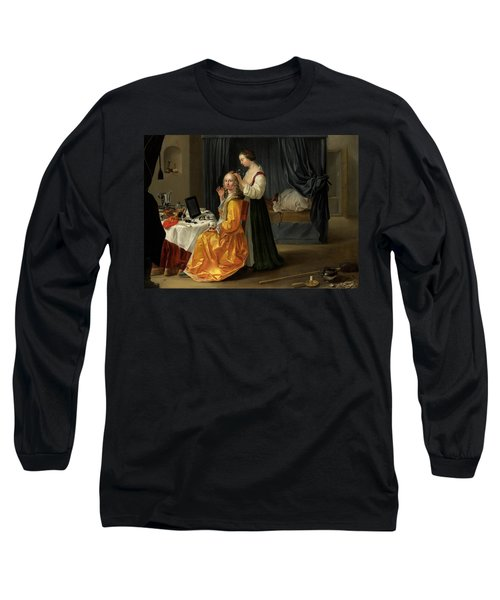 Lady At Her Toilet Long Sleeve T-Shirt