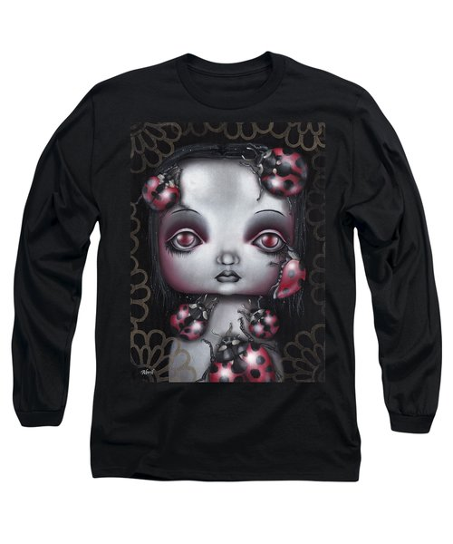 Lady Bug Girl Long Sleeve T-Shirt by Abril Andrade Griffith