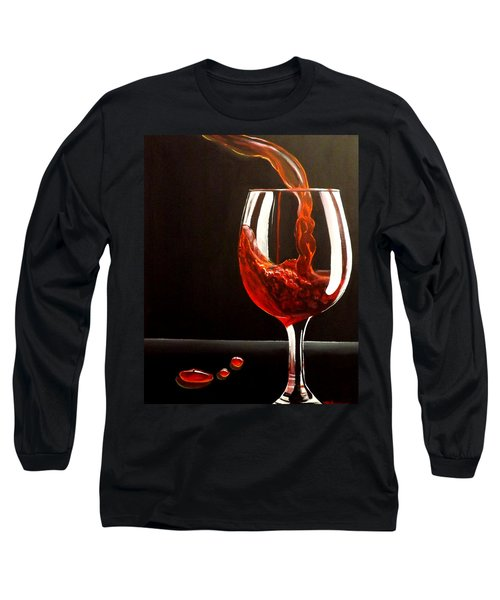 Lady In Red Long Sleeve T-Shirt by Darren Robinson