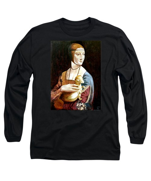 Long Sleeve T-Shirt featuring the painting Lady With An Ermine by Henryk Gorecki