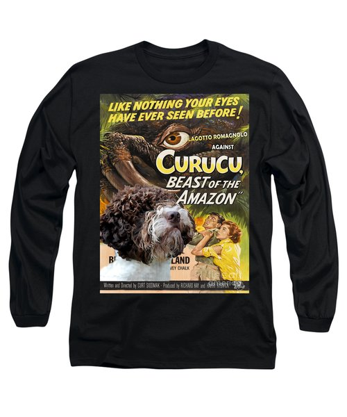 Lagotto Romagnolo Art Canvas Print - Curucu Movie Poster Long Sleeve T-Shirt