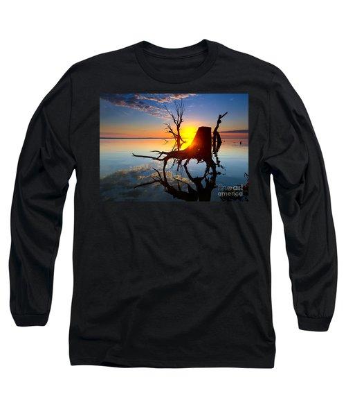 Long Sleeve T-Shirt featuring the photograph Lake Bonney Sunrise by Bill  Robinson