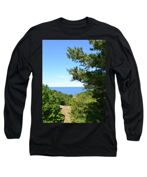 Lake Michigan From The Top Of The Dune Long Sleeve T-Shirt
