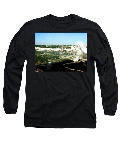 Lake Michigan In An Angry Mood Long Sleeve T-Shirt