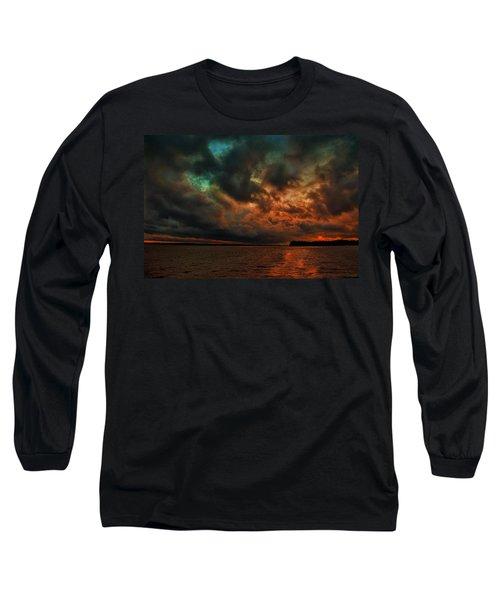Lake Murray Fire Sky Long Sleeve T-Shirt