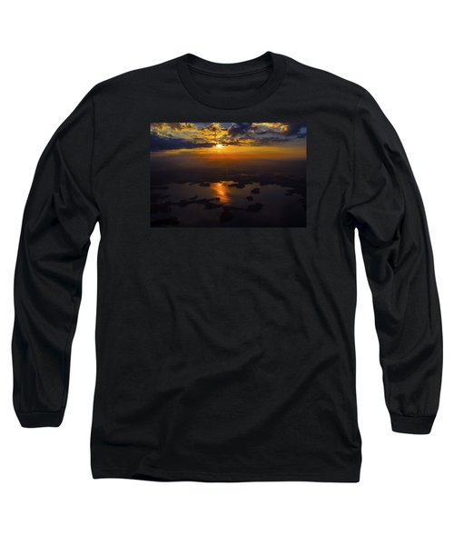 Lake Norman Sunrise Long Sleeve T-Shirt by Greg Reed