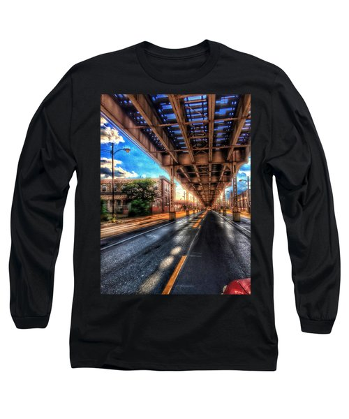 Lake Street El Tracks Long Sleeve T-Shirt