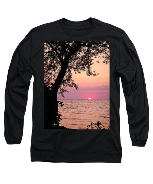 Lake Sunset Long Sleeve T-Shirt by Aimee L Maher Photography and Art Visit ALMGallerydotcom