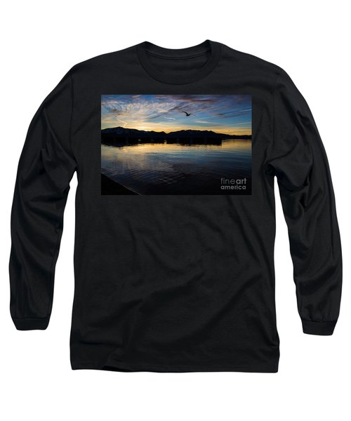 Lake Tahoe Sunset Long Sleeve T-Shirt by Suzanne Luft