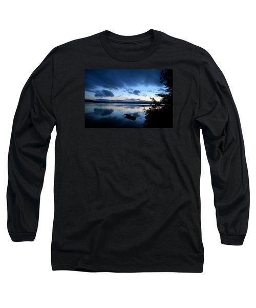 Lake Umbagog Sunset Blues No. 2 Long Sleeve T-Shirt by Neal Eslinger