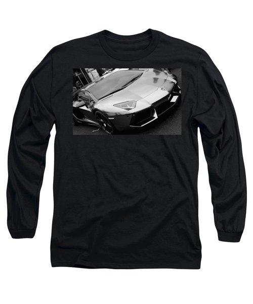 Black And White Shine Long Sleeve T-Shirt