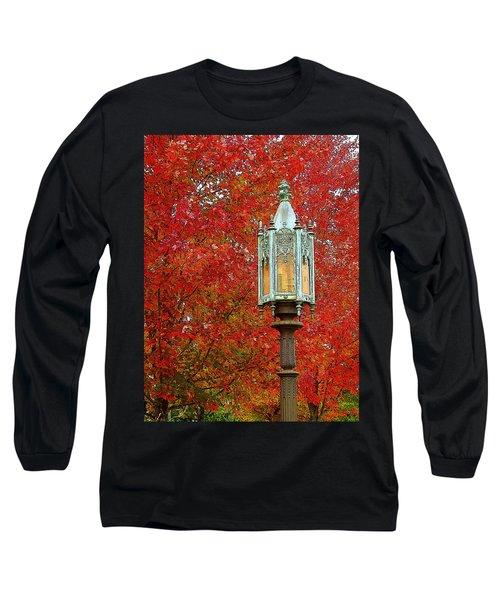 Lamp Post In Fall Long Sleeve T-Shirt