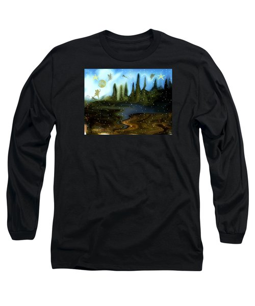 Land Of The Fairies  For Kids Long Sleeve T-Shirt