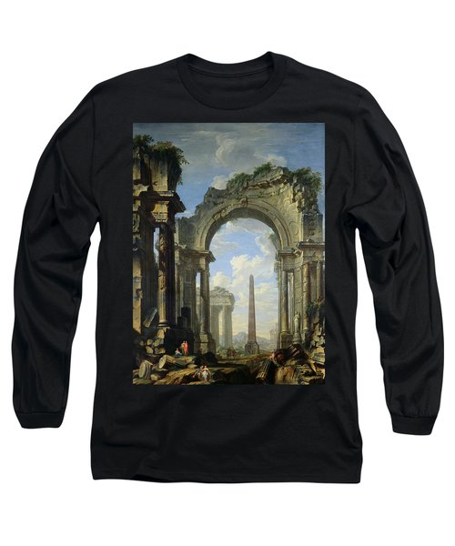 Landscape With Ruins Long Sleeve T-Shirt