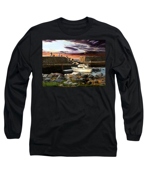 Lanes Cove Gloucester Long Sleeve T-Shirt by Eileen Patten Oliver